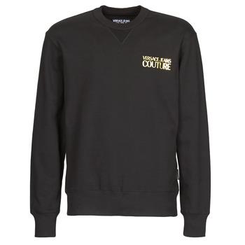 Oblačila Moški Puloverji Versace Jeans Couture B7GVA7FB Črna / Pozlačena