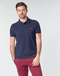 Oblačila Moški Polo majice kratki rokavi U.S Polo Assn. INSTITUTIONAL POLO Modra