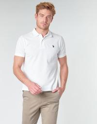 Oblačila Moški Polo majice kratki rokavi U.S Polo Assn. INSTITUTIONAL POLO Bela