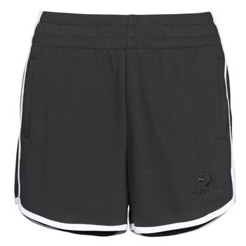 Oblačila Ženske Kratke hlače & Bermuda Converse TWISTED VARSITY SHORT Črna