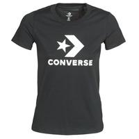 Oblačila Ženske Majice s kratkimi rokavi Converse STAR CHEVRON TEE Črna