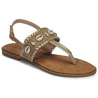 Čevlji  Ženske Sandali & Odprti čevlji Moony Mood MARISE Bež