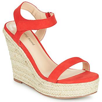 Čevlji  Ženske Sandali & Odprti čevlji Moony Mood MARLEINE Rdeča