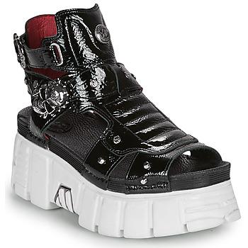 Čevlji  Ženske Sandali & Odprti čevlji New Rock LIYA Črna / Bela