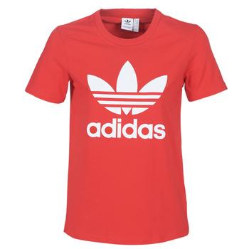 Oblačila Ženske Majice s kratkimi rokavi adidas Originals TREFOIL TEE Rdeča / Luxuriant