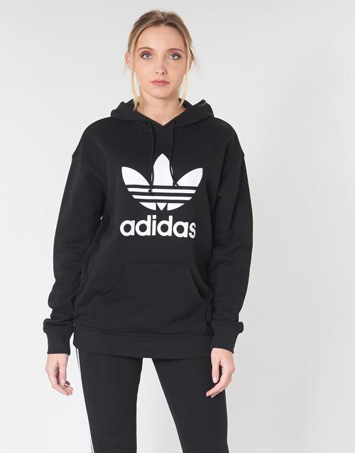 Oblačila Ženske Puloverji adidas Originals TRF HOODIE Črna