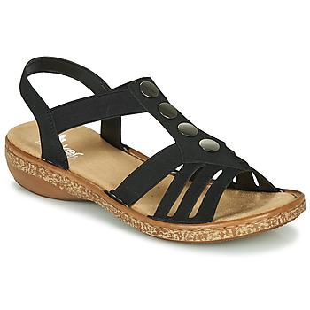 Čevlji  Ženske Sandali & Odprti čevlji Rieker NEX Črna