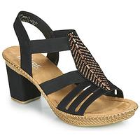 Čevlji  Ženske Sandali & Odprti čevlji Rieker ROOT Črna