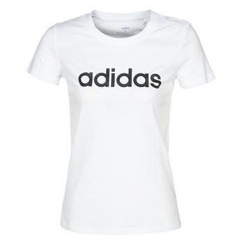 Oblačila Ženske Majice s kratkimi rokavi adidas Performance E LIN SLIM T Bela