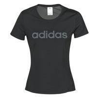 Oblačila Ženske Majice s kratkimi rokavi adidas Performance D2M LO TEE Črna