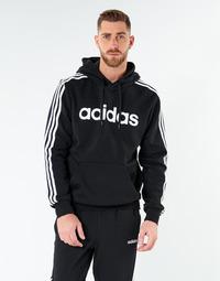 Oblačila Moški Puloverji adidas Performance E 3S PO FL Črna