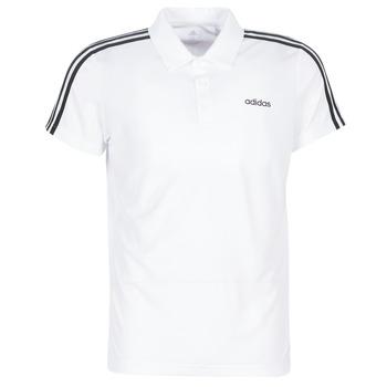 Oblačila Moški Polo majice kratki rokavi adidas Performance M D2M CLA 3S PO Bela