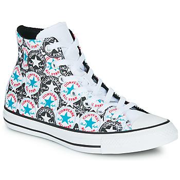 Čevlji  Ženske Visoke superge Converse Chuck Taylor All Star Logo Play Bela / Črna