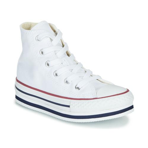 Čevlji  Deklice Visoke superge Converse CHUCK TAYLOR ALL STAR PLATFORM EVA EVERYDAY EASE Bela