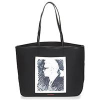 Torbice Nakupovalne torbe Karl Lagerfeld KARL LEGEND CANVAS TOTE Črna