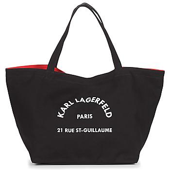 Torbice Ženske Nakupovalne torbe Karl Lagerfeld RUE ST GUILLAUE CANVAS TOTE Črna