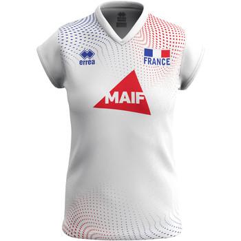 Oblačila Ženske Majice s kratkimi rokavi Errea Maillot femme extérieur Equipe de france 2020 blanc