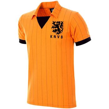 Oblačila Moški Majice s kratkimi rokavi Copa Football Maillot rétro Pays-Bas 1983 orange