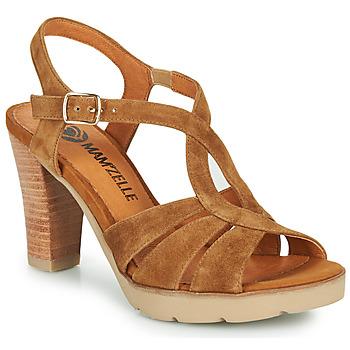 Čevlji  Ženske Sandali & Odprti čevlji Mam'Zelle TIMBA Cognac
