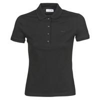 Oblačila Ženske Polo majice kratki rokavi Lacoste PH5462 SLIM Črna