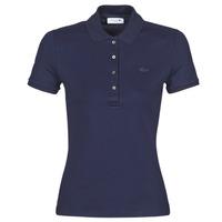 Oblačila Ženske Polo majice kratki rokavi Lacoste PH5462 SLIM Modra