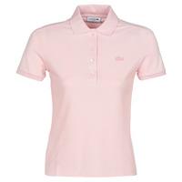Oblačila Ženske Polo majice kratki rokavi Lacoste PH5462 SLIM Rožnata