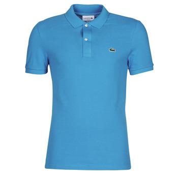 Oblačila Moški Polo majice kratki rokavi Lacoste PH4012 SLIM Modra / Turkizna