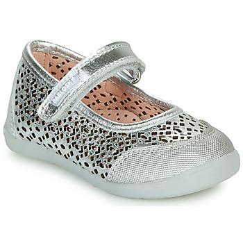 Čevlji  Deklice Balerinke Pablosky  Srebrna