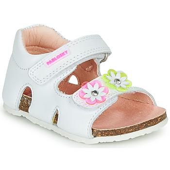 Čevlji  Deklice Sandali & Odprti čevlji Pablosky  Bela