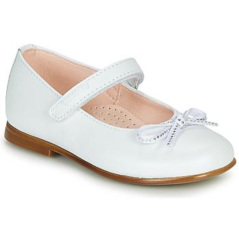 Čevlji  Deklice Balerinke Pablosky  Bela