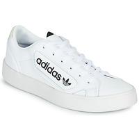 Čevlji  Ženske Nizke superge adidas Originals adidas SLEEK W Bela