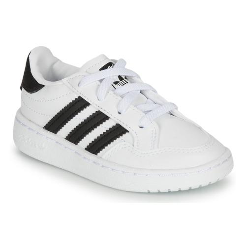 Čevlji  Otroci Nizke superge adidas Originals NOVICE EL I Bela / Črna
