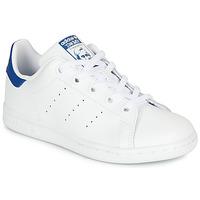 Čevlji  Otroci Nizke superge adidas Originals STAN SMITH C Bela / Modra