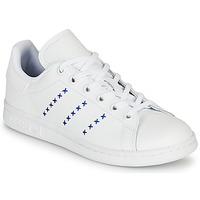Čevlji  Otroci Nizke superge adidas Originals STAN SMITH J Bela / Modra