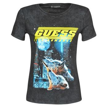 Oblačila Ženske Majice s kratkimi rokavi Guess SS CN NEON TEE Črna