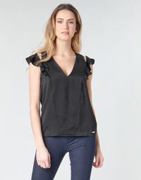 Oblačila Ženske Topi & Bluze Guess SS DAHAB TOP Črna