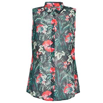 Oblačila Ženske Topi & Bluze Guess SL CLOUIS SHIRT Črna / Zelena / Rdeča