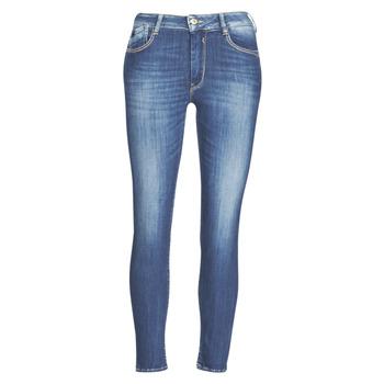 Oblačila Ženske Kavbojke slim Le Temps des Cerises PULP SLIM TAILLE HAUTE 7/8 Modrá