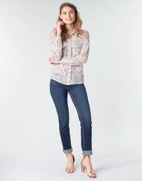 Oblačila Ženske Jeans straight Le Temps des Cerises PULP REGULAR Modrá