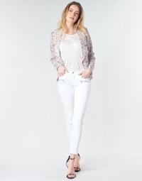 Oblačila Ženske Jeans skinny Le Temps des Cerises KIEV SKINY7/8 White