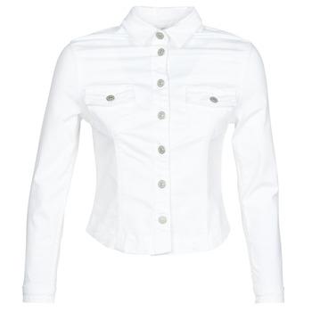 Oblačila Ženske Jeans jakne Le Temps des Cerises LILLY White