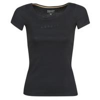Oblačila Ženske Majice s kratkimi rokavi Esprit T-SHIRTS LOGO Črna