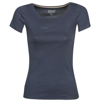Oblačila Ženske Majice s kratkimi rokavi Esprit T-SHIRTS LOGO Modra