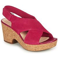 Čevlji  Ženske Sandali & Odprti čevlji Clarks MARITSA LARA Rožnata
