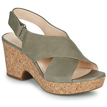 Čevlji  Ženske Sandali & Odprti čevlji Clarks MARITSA LARA Taupe