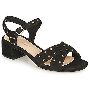 Čevlji  Ženske Sandali & Odprti čevlji Clarks SHEER35 STRAP Črna / Clou