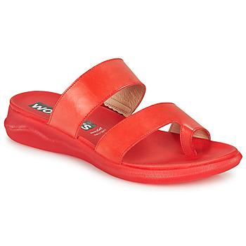 Čevlji  Ženske Japonke Wonders PERGAMENA Rdeča