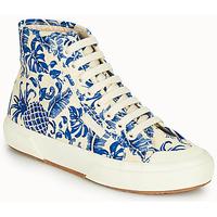 Čevlji  Ženske Visoke superge Superga 2295-COTFANW Bež / Modra