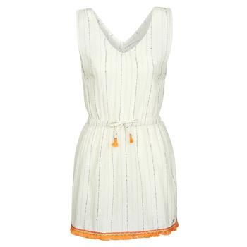 Oblačila Ženske Kratke obleke Banana Moon MARZUL MANDALO Bela / Oranžna