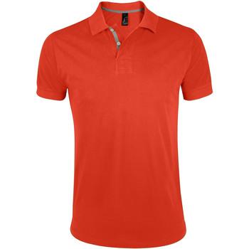 Oblačila Moški Polo majice kratki rokavi Sols PORTLAND MODERN SPORT Naranja